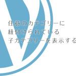 WordPressで該当カテゴリの小カテゴリを表示する方法